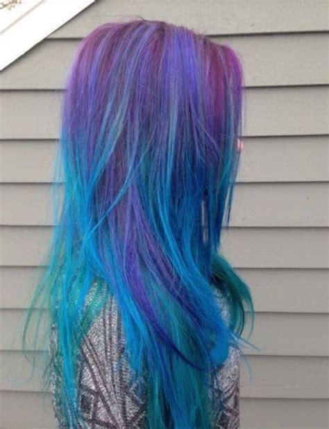 Multi Colored Hair Purple Hair Crazy Hair Mermaid Hair