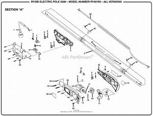 Homelite Ry43160 Electric Pole Saw Parts Diagram For