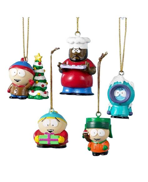 south park 5 pack christmas tree ornaments