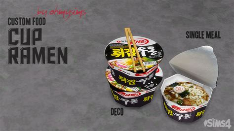 My Sims 4 Blog Cup Ramen By Ohmysims