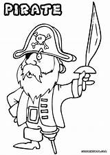 Pirate Coloring Pages Coloringway Colorings sketch template