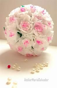 Boule En Papier Crepon : boule de fleurs en papier en cr pon d corations mariage d coration fleurs en papier fleurs ~ Dode.kayakingforconservation.com Idées de Décoration