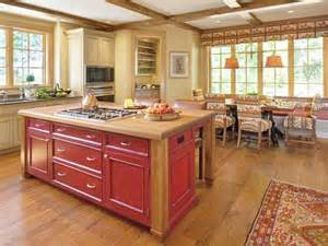 traditional kitchen island pale yellow country kitchen with large island hgtv