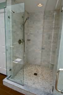subway tile bathroom floor ideas marble subway tile shower offering the sense of elegance homesfeed