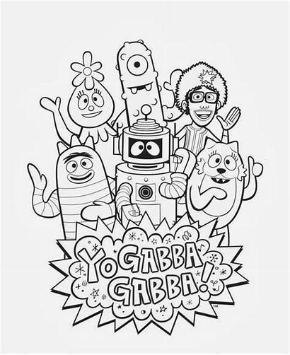 Gabba Coloring Yo Pages Sheet Plex Toodee