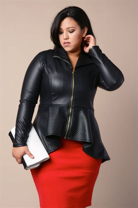 5 ways to wear a plus size leather blazer in style - plussize-outfits.com