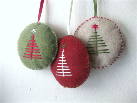 christmas ornament set in felt handmade felt ornaments