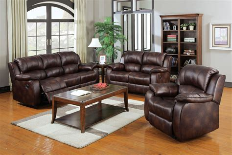 Loveseat Sectional Sofa by 3pc Brown Acme Motion Sofa Set Recliner 50510