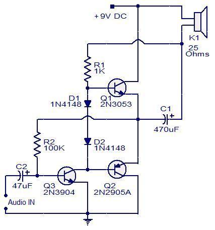 Three Transistor Audio Amplifier Circuit Electronic