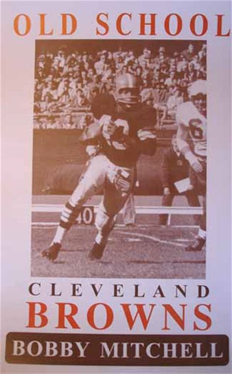 cleveland browns bobby mitchell football action poster print