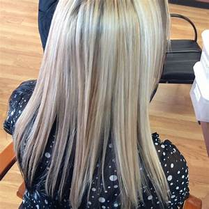 Blonde highlights and Carmel lowlights with dark mohogany ...
