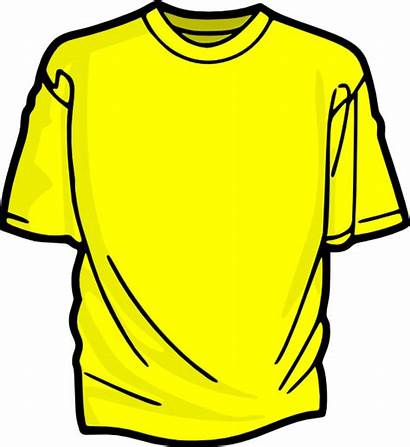 Shirt Yellow Clip Tshirt Shirts Clipart Clker