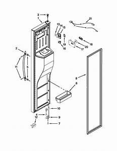 Freezer Door Diagram  U0026 Parts List For Model 10651169210