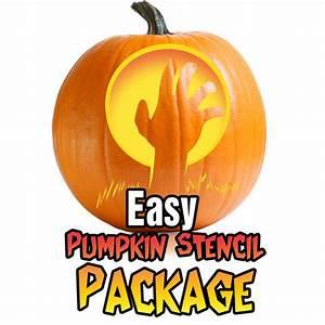 Easy, Pumpkin, Carving, Stencil, Package