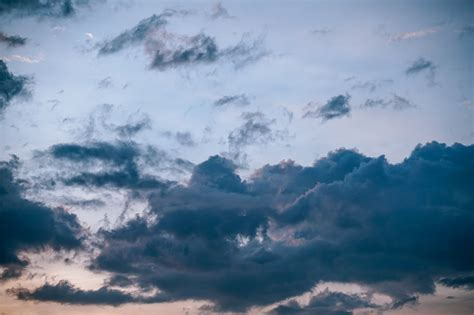 stock photo  blue sky cloudiness clouds