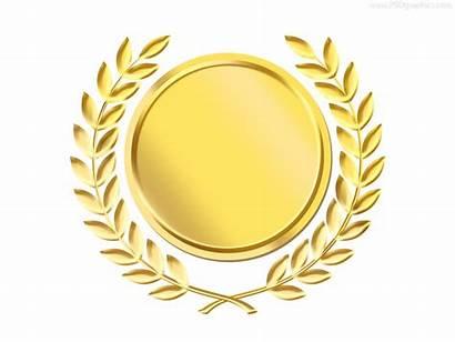 Medal Template Wreath Laurel Award Gold Ribbon