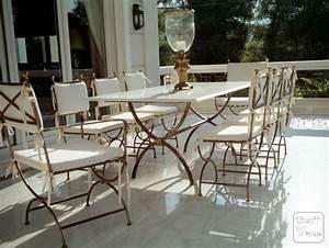 Salon De Jardin Fer Forgé Occasion : table rabattable cuisine paris table en fer forge occasion ~ Teatrodelosmanantiales.com Idées de Décoration