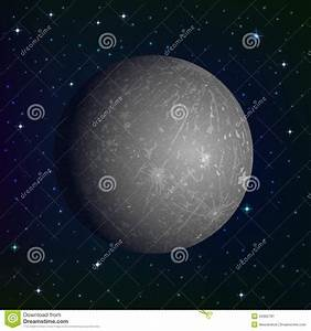 Planet Mercury In Space Stock Image - Image: 34362781