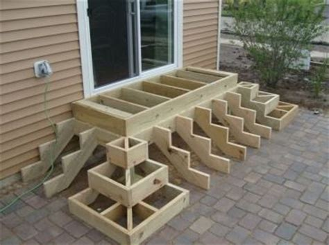 trex steps on paver patio outdoor wood projects