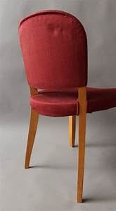 Pair Of Fine French Art Deco Sycamore Chairs By Leleu For