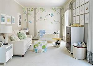 la chambre bebe en 15 exemples inspirants With affiche chambre bébé avec tapis lotus
