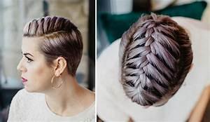Tresse Cheveux Courts : 6 coiffures faciles pour les cheveux courts coupe courte ~ Melissatoandfro.com Idées de Décoration