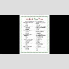 Christmas Trivia Questions And Answers Printable Youtube