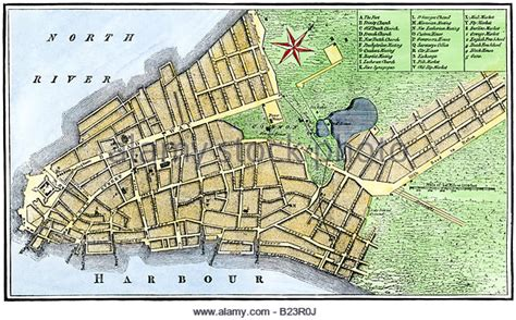 Historic Map New York City Stock Photos And Historic Map New