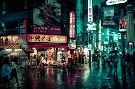 tokyo street  night  stock photo iso republic