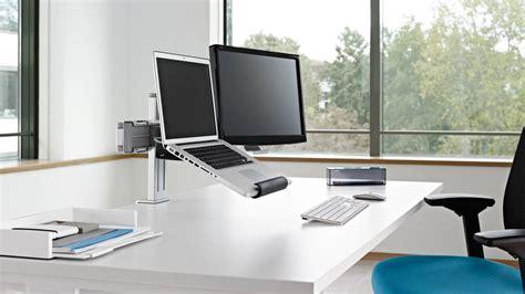 support mural pc portable plurio bras support ecran plat ordinateur steelcase