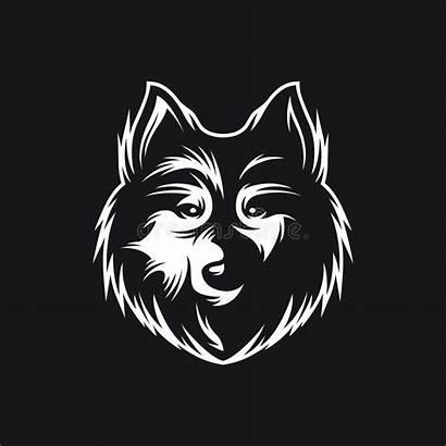 Wolf Head Symbol Illustration Monochrome Vector Clip