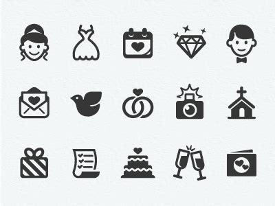 wedding icons final  scott dunlap dribbble
