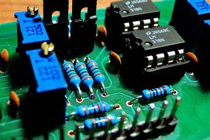 Circuit Texture Electronic Diode Printed Boards Macro
