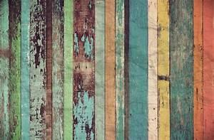 Worn Coloured Wood Wall Mural
