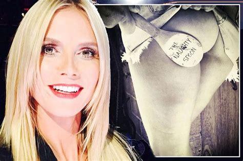 Heidi Klum Flashes Her Pert Bum She Gets Spanked