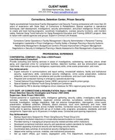 Resume For A Security by Security Guard Resume 5 Free Sle Exle Format