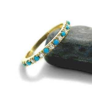 birthstone wedding rings turquoise engagement ring and turquoise wedding band turquoise eternity ring