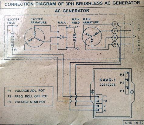 electric machines kirloskar avr kavr 1 circuit diagram