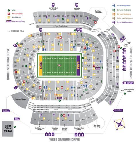 tiger stadium seating chart lsusportsnet  official web site  lsu tigers athletics
