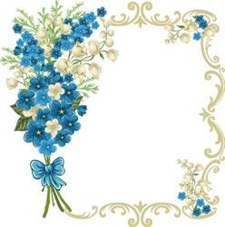 Transparent Flower Borders and Frames