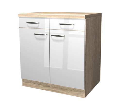 Küchen Unterschrank Schmal by K 252 Chen Unterschrank Venedig 2 T 252 Rig 80 Cm Breit Wei 223
