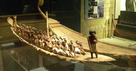 luxor museum east bank wooden funerary model boats