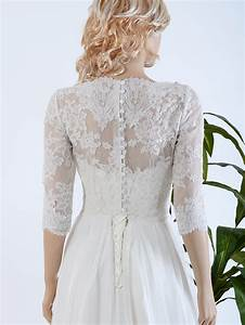 ivory strapless wedding dress with bolero 4008 With lace shrug for wedding dress
