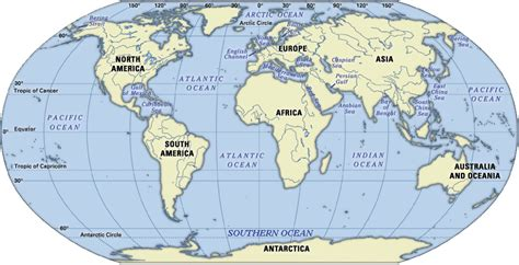 map   world world ocean map world ocean map