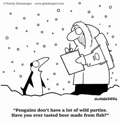 Cartoons Penguin Animal Bird Glasbergen Funny Winter