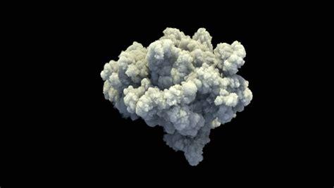 slow motion smoke explosion stock footage video