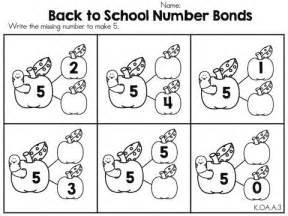 Kindergarten Worksheets Number Bonds