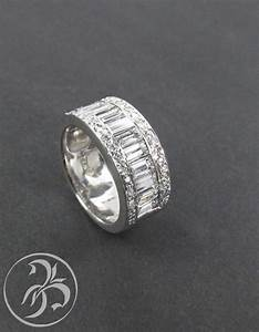 baguette and round diamond chunky wedding band some With chunky wedding rings