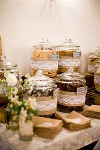 Wedding cookie bar instead of a candy bar with lace and