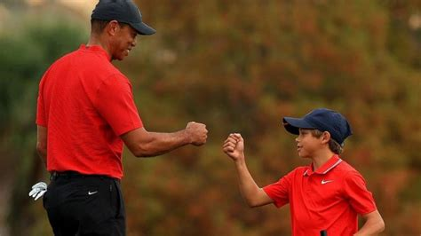 Tiger Woods said playing with his son Charlie was as much ...